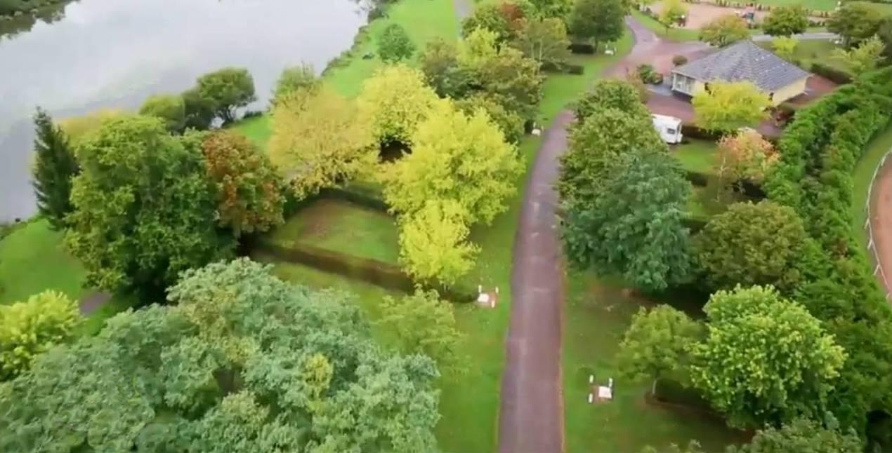 vue aérienne camping